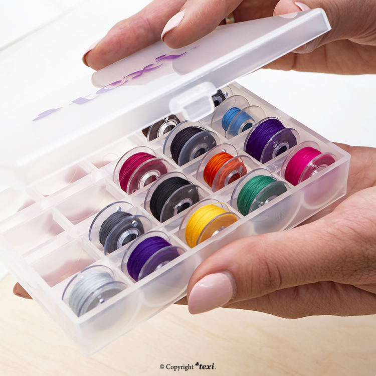 Storage box for 25 bobbins