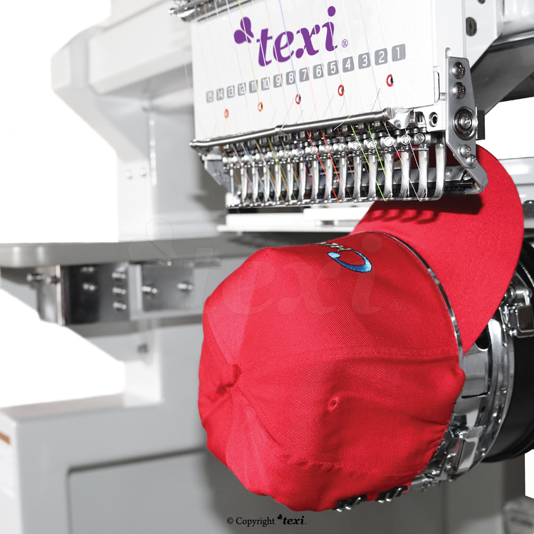 Industrial, eight-head, twelve-needle embroidery machine