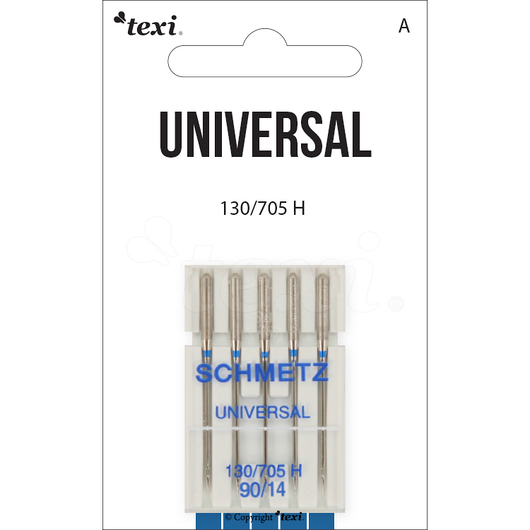 Universal needles for household machines, 5 pcs, size 90