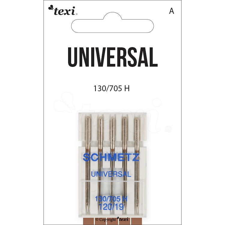 Universal needles for household machines, 5 pcs, size 120