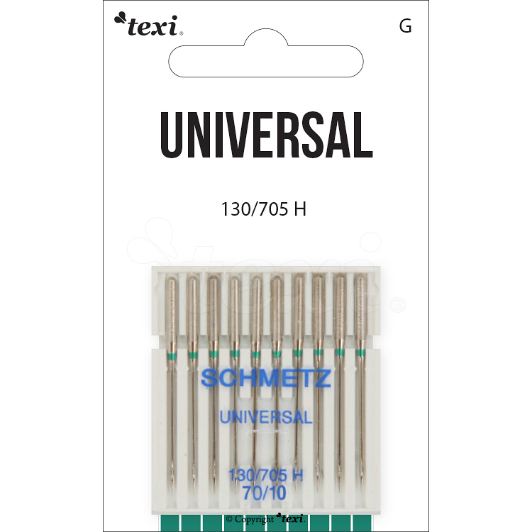 Universal needles for household machines, 10 pcs, size 70