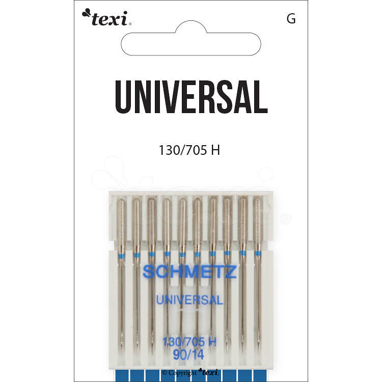 Universal needles for household machines, 10 pcs, size 90