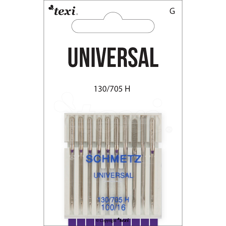 Universal needles for household machines, 10 pcs, size 100
