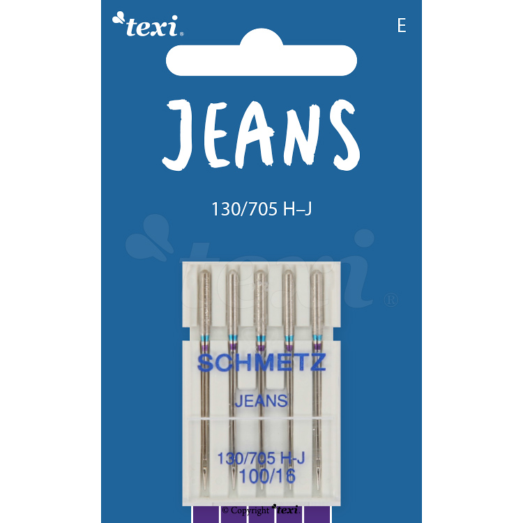 Jeans needles for household machines, 5 pcs, size 100