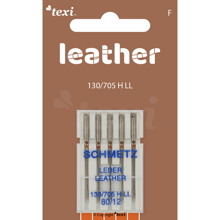 Leather needles for household machines, 5 pcs, size 80