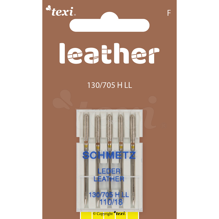 Leather needles for household machines, 5 pcs, size 110
