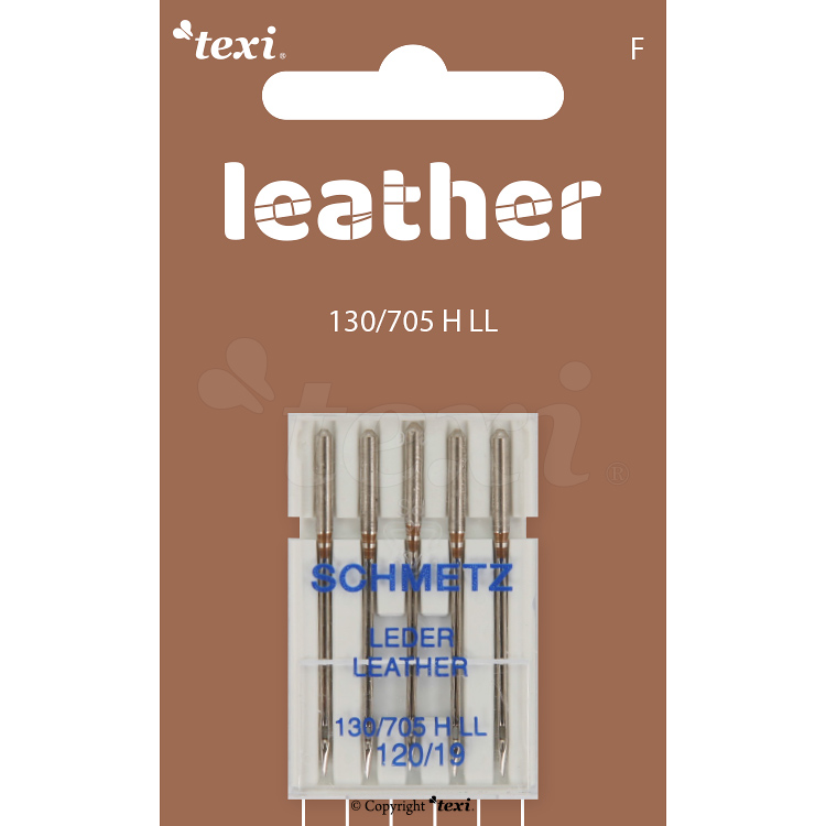 Leather needles for household machines, 5 pcs, size 120