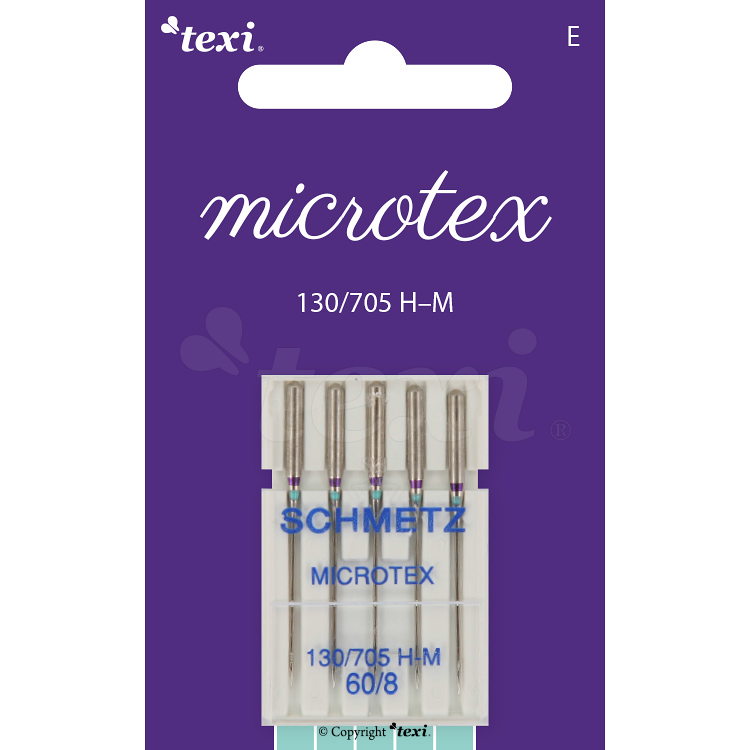 Microtex needles for household machines, 5 pcs, size 60