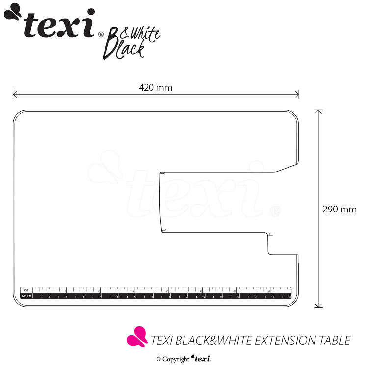 Extention table for Texi Black&White