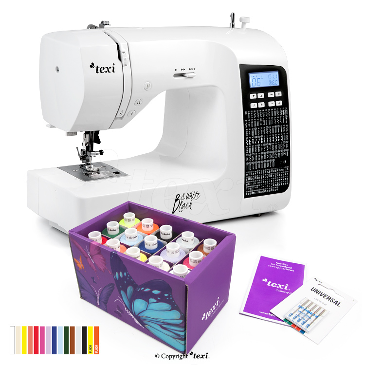 Multifunctional, computerized sewing machine + Texi Box 15 as a gift