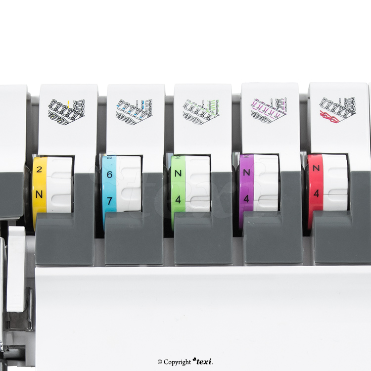 2, 3, 4, 5-thread coverlock machine