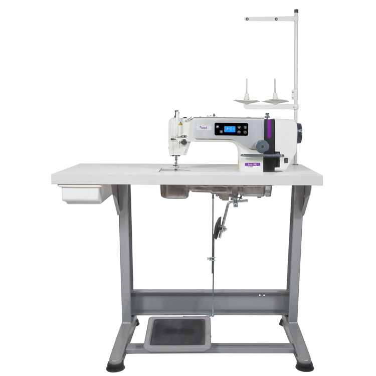 Mechatronic lockstitch machine for light and medium materials with needle positioning - complete machine - 2 years warranty