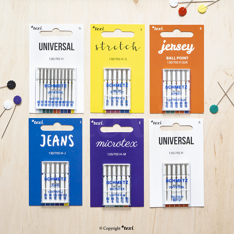 Universal needles set for household machines, 5 types